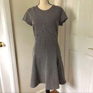 Banana Republic, Black & white polka dot dress,M